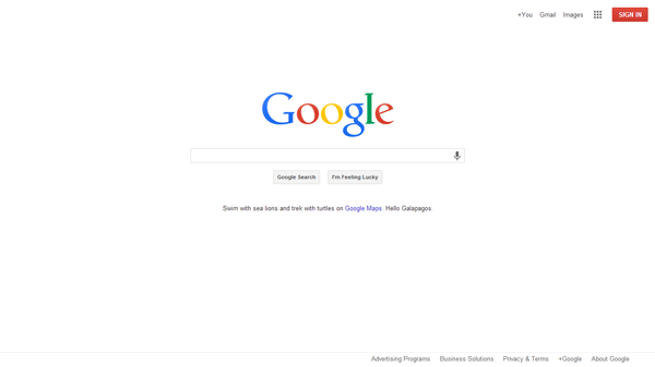 Toronto Website Design - Google Minimalist Look